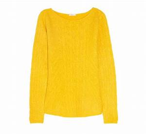 N Peal Yellow Cable knit Cashmere Sweater at In Seven