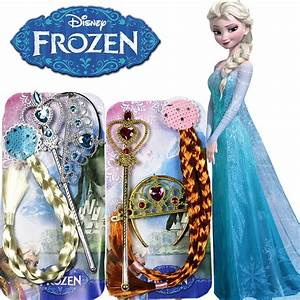 3 Pcs Disney Toys Frozen Princess Anna Elsa Braid Wigs ...