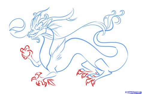 How To Draw A Chinese Dragon Easy, Step By Step, Dragons