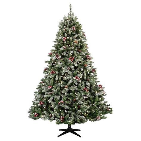 flocked hawthorne prelit tree christmas lights