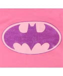 Girls Pink Batman Logo Shirt