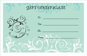 blank gift certificate template party things pinterest With fillable gift certificate template free