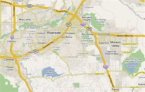 riverside california map