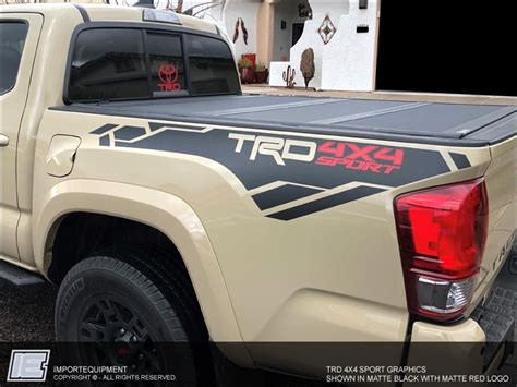 toyota tacoma trd  sport graphics kit fits