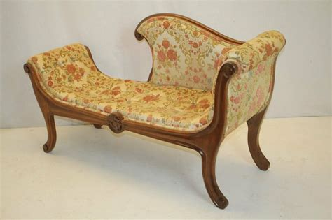 settees ebay regency style antique loveseat recamier tufted settee