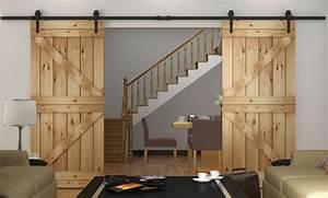 82 10 12ft rustic sliding barn wood closet door interior With bi parting interior barn doors