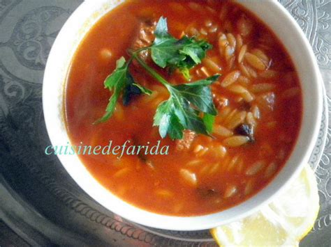 cuisine tunisienne chorba chorba aux langues d 39 oiseaux cuisinedefarida