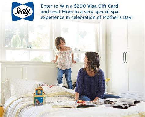It is safe to say that just about everyone would appreciate receiving a visa gift card via email delivery. Sealy Canada Mother's Day Contest: Win a $200 Visa Gift Card
