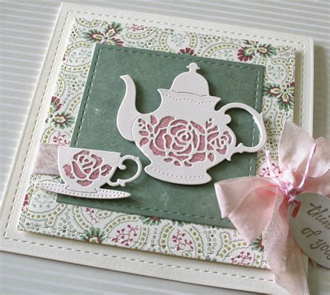 marybeths time  paper  serendipity stamps teapot
