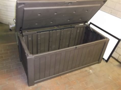 Keter Deck Box 150 Gallon by Keter 214301 Rockwood 150 Gallon Storage Deck Box Ebay