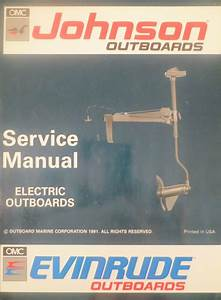 1992 Johnson Evinrude Electric Outboard Trolling Motor