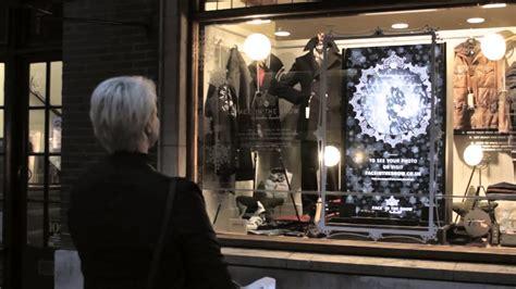 interactive christmas shop window face   snow  jonathan trumbull youtube