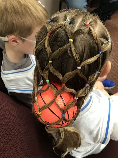 Crazy Hair Day Basketball In A Net In 2019 Crazy Hair