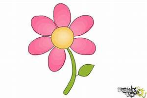 How to Draw a Flower Easy - DrawingNow