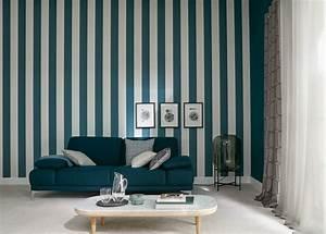 Schöner Wohnen Designer : sch ner wohnen tapete streifen grau blau 30410 1 ~ Sanjose-hotels-ca.com Haus und Dekorationen