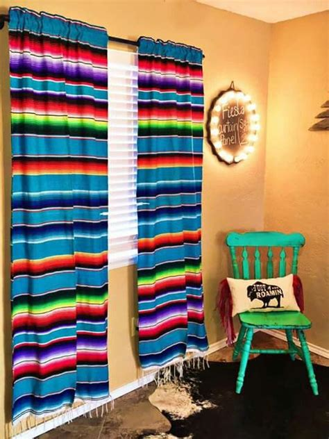 fiesta  panel curtains mexican home decor western home