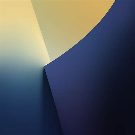 vs68 simple minimal polygon blue yellow pattern wallpaper
