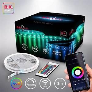 Lampen Wlan Steuerung : b k licht led streifen 90 flammig wifi led band mit app ~ Watch28wear.com Haus und Dekorationen