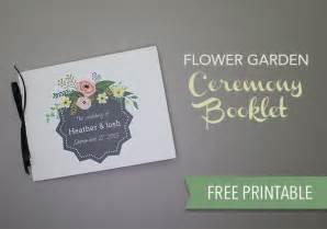printable flower garden wedding program  budget savvy
