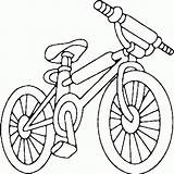Coloring Bike Bicycle Pages Printable Bmx Getcoloringpages sketch template
