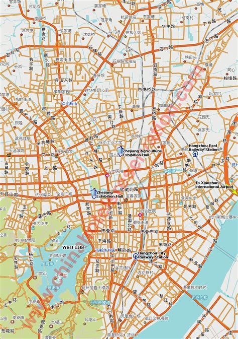 hangzhou map  hangzhou satellite image