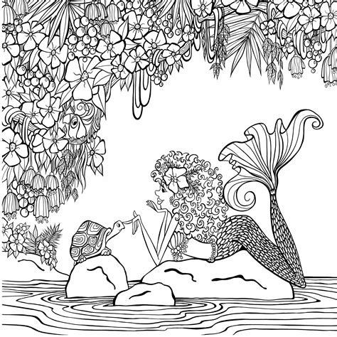 amazoncom zendoodle coloring presents mermaids