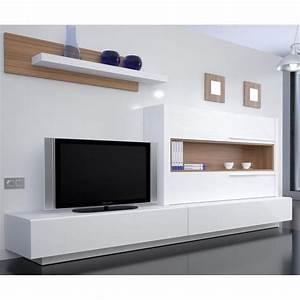 Meuble Tv Suspendu Conforama : meuble tv mural st barth mati re m lamine coule achat ~ Dailycaller-alerts.com Idées de Décoration