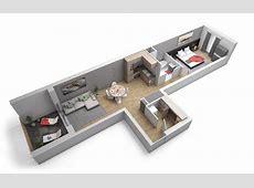 Plan appartement 2 pièces Domaine de La Tour, Fleury 57420