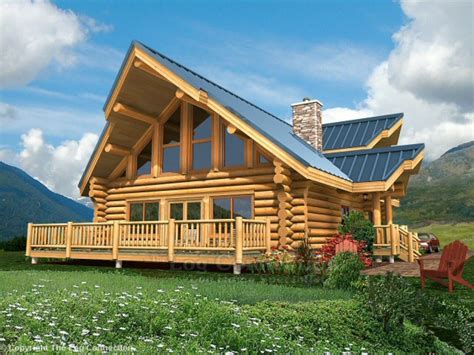 Log Home Plans And Prices Small Log Home With Loft, Log