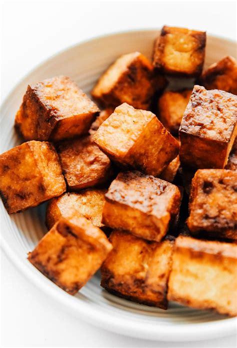 tofu crispy air fryer fried deep vegan recipe way lower fat while being eat cornstarch tastes straight liveeatlearn