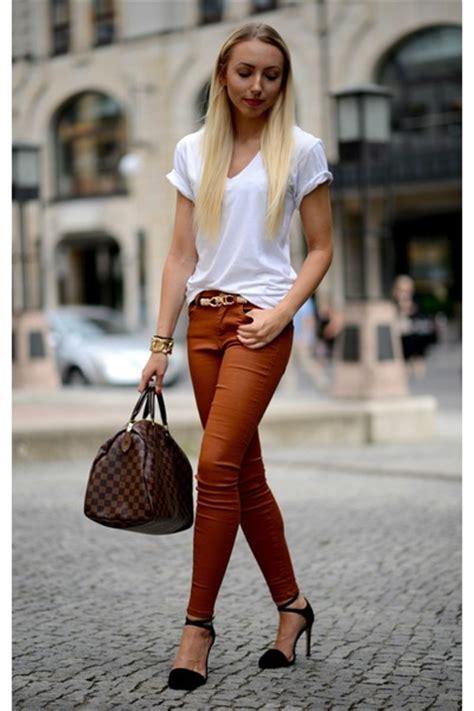 Black Zara Sandals Burnt Orange Zara Jeans White American Apparel Shirts | u0026quot;BASIC COMBINATION ...