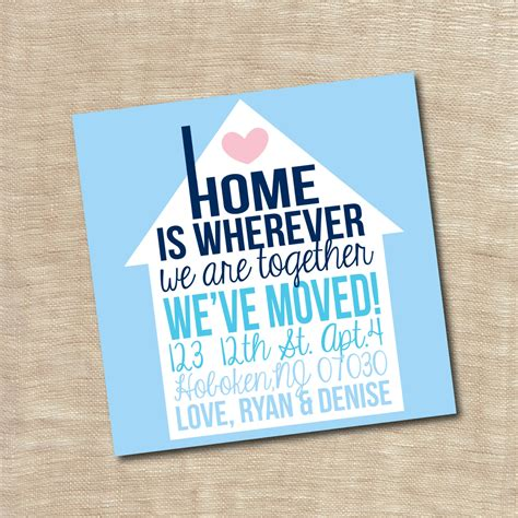 housewarming cards to print housewarming party invitation new home we moved