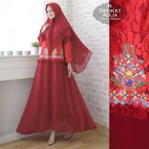 Harga Gamis Merk Aulia gamis syari brukat aulia baju muslim modern butik jingga