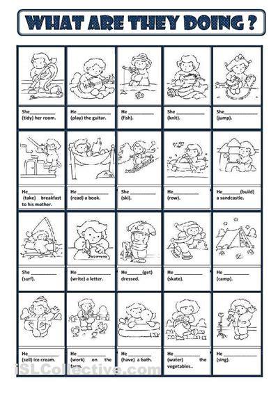 present continuous worksheet free esl printable worksheets made by teachers edu pinterest