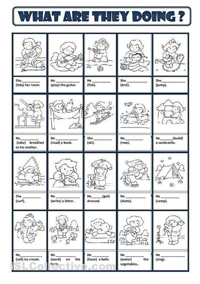 Present Continuous Worksheet  Free Esl Printable Worksheets Made By Teachers  Edu Pinterest