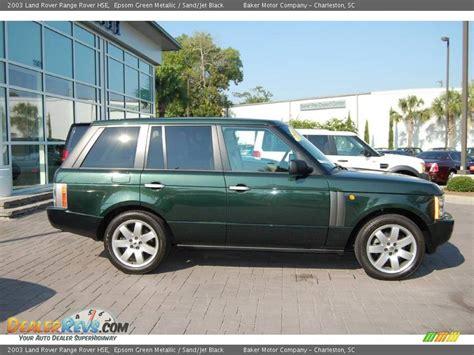 range rover dark green 2003 land rover range rover hse epsom green metallic