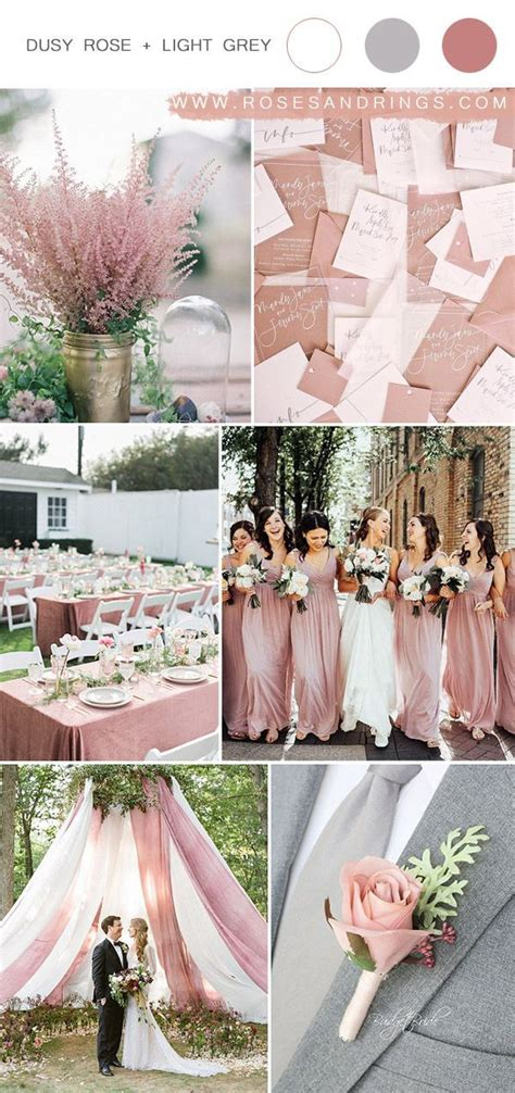 Top 9 Dusty Rose Wedding Color Palettes for 2020 in 2020