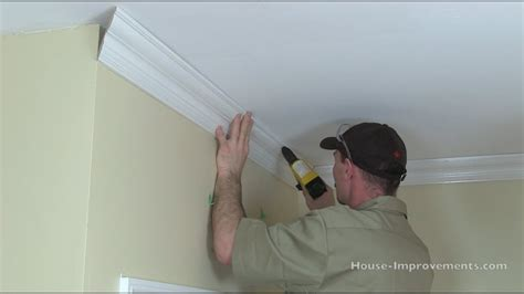cut install crown moulding youtube