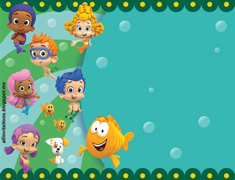 Get Free Printable Bubble Guppies Baby Shower Invitation