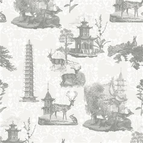 Collection Llc by Mitchell Black Llc Debut Collection Pagoda Toile In Moon