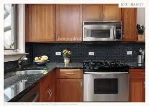kitchen backsplash ideas with black granite countertops black countertops with backsplash black granite glass tile mixed kitchen backsplash kitchen