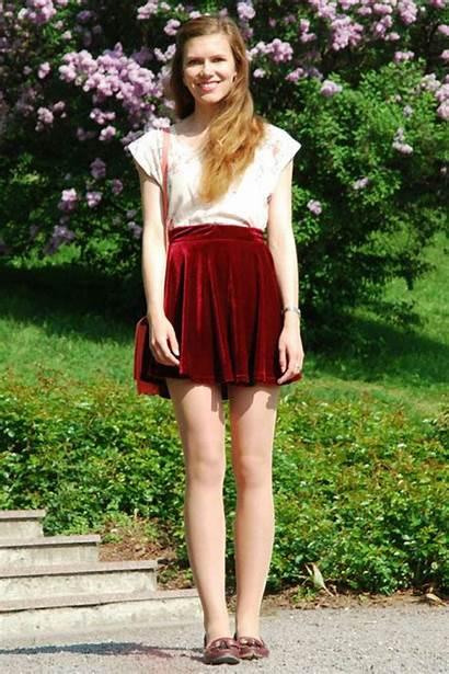 Outfit Skirt Outfits Skater Teenvogue Velvet Teen