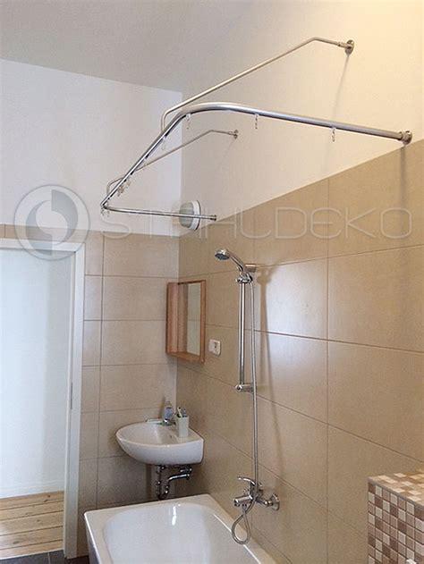 duschvorhangstange u form barrierefrei f 252 r badewannen oder dusche edelstahl oder wei 223