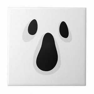 ghost face with eyes and mouth ceramic tile zazzle With ghost eyes template