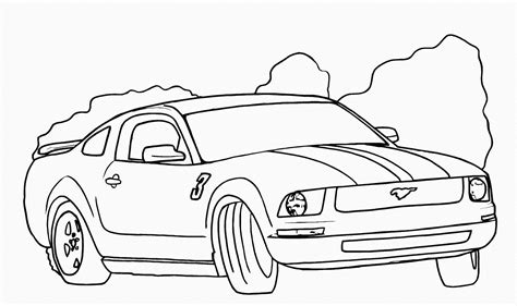 mustang coloring pages coloring sheets mustang convertible coloring pages
