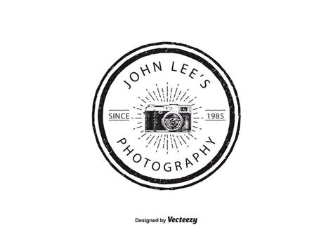 vintage photography logo template   vector