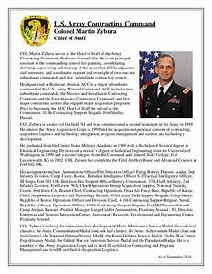 biography col martin zybura acc chief of staff With military biography template