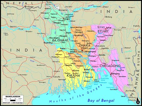 bangladesh political wall map mapscom