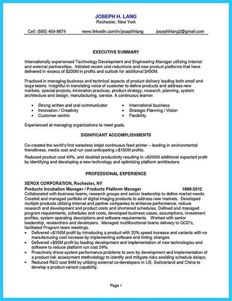 resume innovation manager