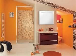 Salle De Bain Orange : 20 salles de bains color es elle d coration ~ Preciouscoupons.com Idées de Décoration